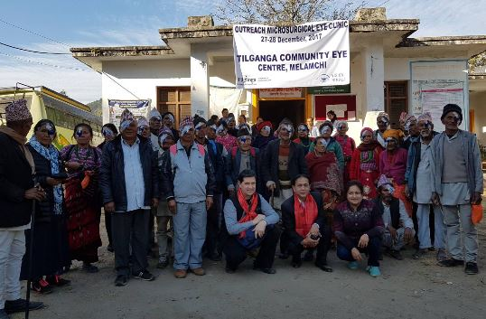 MELAMCHI, 28.12.2017: AUGENCAMP IM COMMUNITY EYE CENTER