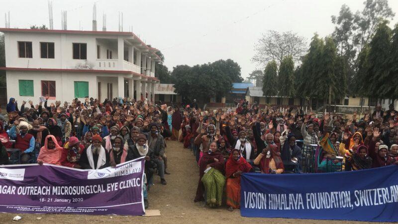 Grosses Augencamp in Rupnagar, Südostnepal